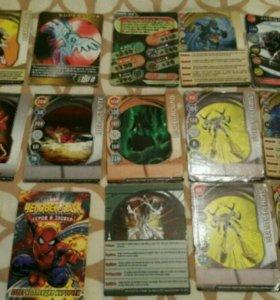Карточки для игры в bakugan и человек паук