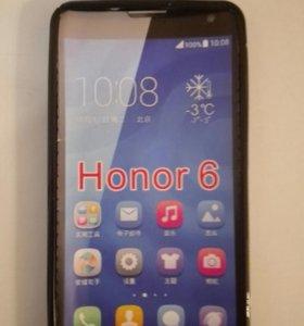 Силиконовый чехол на Huawei honor 6