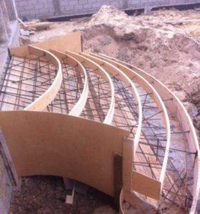 Заливка монолитных лестниц