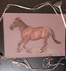 """Картина """"Бегущая лошадь"""""""