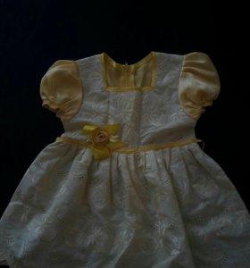 Платье на девочку от 1-1,5года