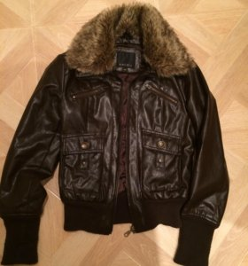 Куртка кож.зам коричневая