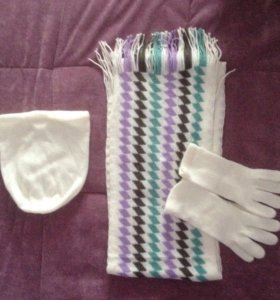 Шарф, шапка, перчатки (комплект)
