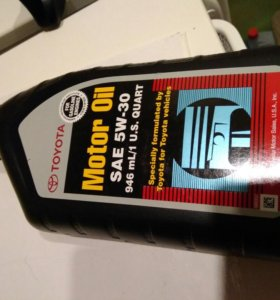 Моторное масло toyota 5w30 sn 946мл. США.