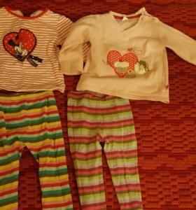костюмы (кофты +лосины)2шт