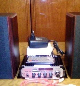 Мини ресивер Hi-Fi Kentiger с акустикой