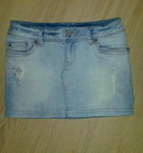 Юбка джинсовая ostin xs