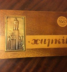 Шкатулка деревянная СССР Харкiв