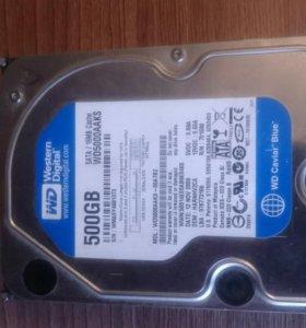 Жёсткий диск Sata на 500 Gb