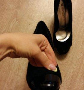 Туфли замшевые 37р