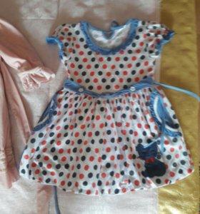 Платья, синее 200, розовое 200