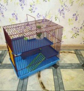 Клетка для хомяка 3-х этажная