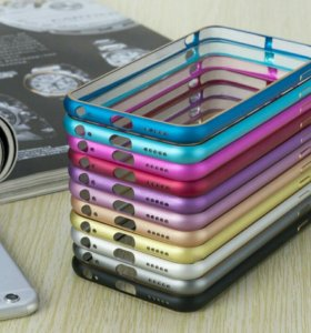 На iPhone 6 6S 7 чехол бампер металлический стекло