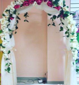 Арка свадебная для выездной регистрации
