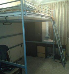Кровать-чердак Икеа Тромсо с матрасом