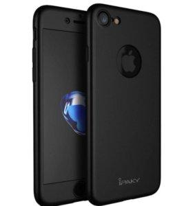 Чехлы на iPhone 6/7 цельные + защитное стекло