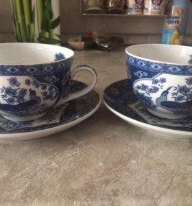Набор (две чашки + два блюдца)