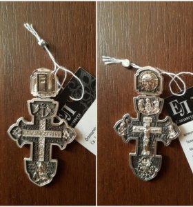 серебрянный крестик новый