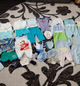 Пакет вещей для мальчика до 1 года.