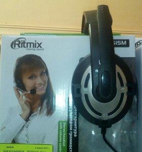 Наушники ritmix rh-515m (новые)
