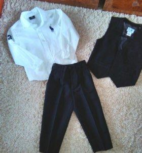 Костюм брюки,жилет и рубашка