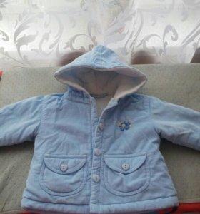 Новая курточка 62-68 150р