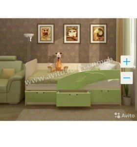 Кровать Дельфин 1,6 зелёный