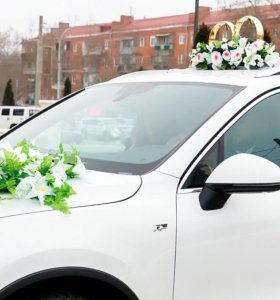 кольца и украшения на свадебный автомобиль