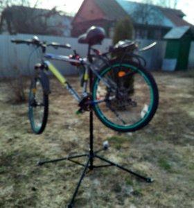 Стойка для ремонта и обслуживания велосипедов
