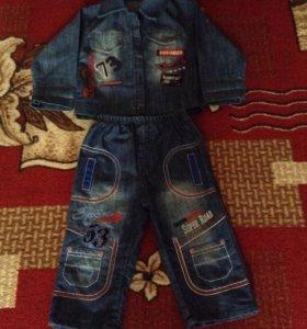 Джинсовый костюмчик на 1,5-2 годика