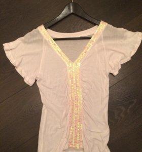 Блуза с пайетками oggi