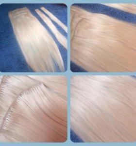 Волосы на заколочках