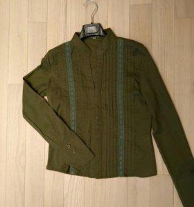 Блузка (рубашка) хаки р.42 (s)