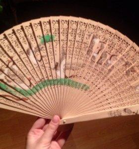 Веер Китайский деревянный