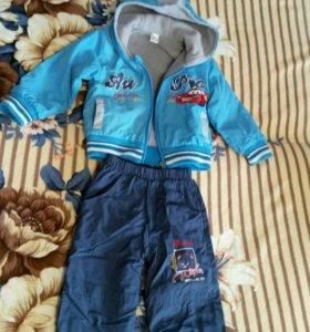 Детский костюм ( куртка+брюки утепленые)