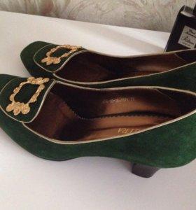 Туфли новые замша, кожа