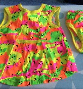 Платье+трусики+платочек для девочки