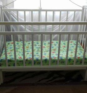 Детская кроватка.Алита5 с поперчным маятником