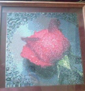 "Алмазная мозаика ""Роза"""
