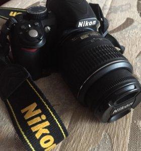 Nikon D3100+два объектива+штатив+сумка+флешка