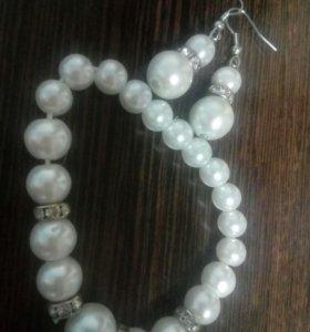 Сережки и браслет