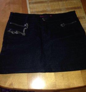 Юбка джинсовая чёрная недорого