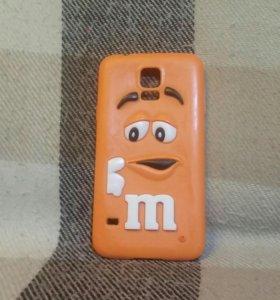 Силиконовый чехол M&m's для Samsung galaxy s5