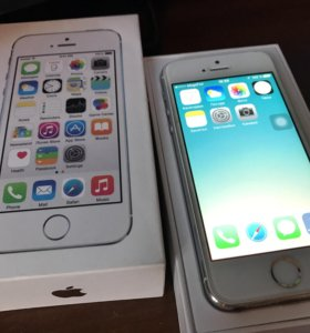 iPhone 5s silver, 32 гб