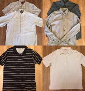 Пакетом мужские рубашки,L
