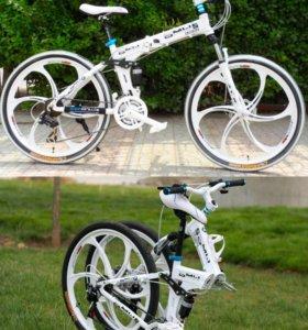Велосипед складной Bmw белый