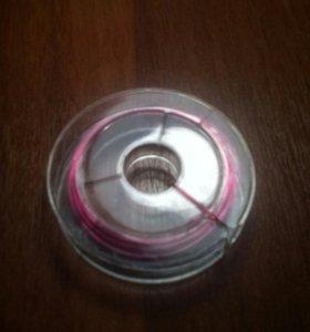 Розовая проволока для бисера