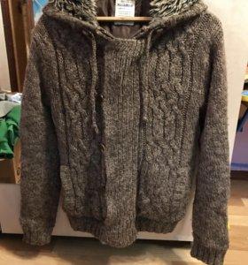 Вязаная куртка pull and bear
