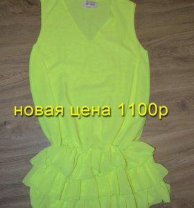 Новое шифоновое платья р 42 44 46