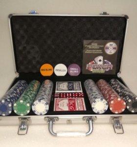 Набор для покера POKER STARS на 300 фишек, Новый